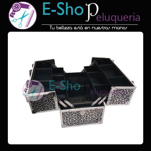 7b35deba3 Maletin Portamaquillaje Profesional Leopardo HV007A - E-Shop Peluqueria