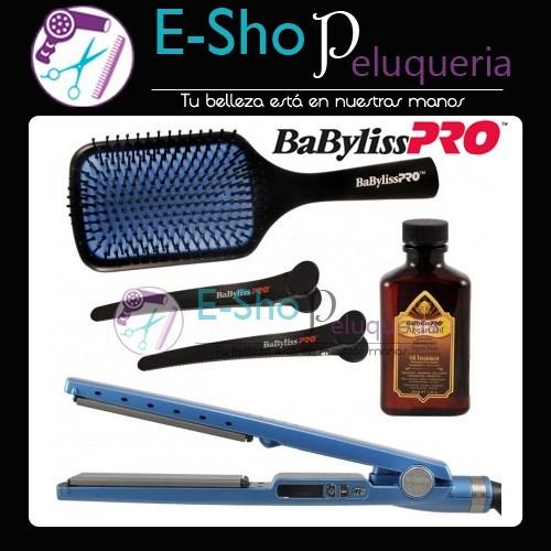 Kit BaByliss Pro Nano Titanium  Plancha 2091 + Cepillo Paleta + Separadores Babyliss  Pro + b88b507ba990