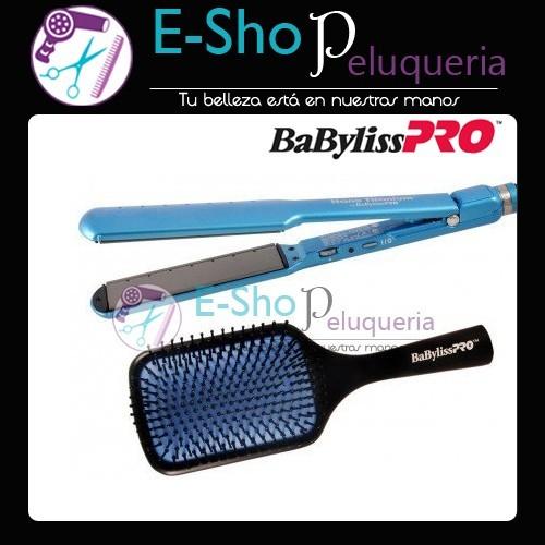 Kit Babyliss Pro Nano Titanium  Plancha para Alisados Humedo Seco ... 6e6747a3c48e