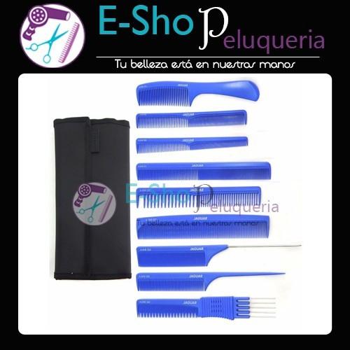 Set de Peines Profesionales Azules A-Line Jaguar con Estuche - E ... c7f5af99f14b