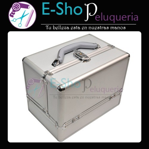 22cd0ae75 Maletin Portamaquillaje Profesional Aluminio 1488 - E-Shop Peluqueria